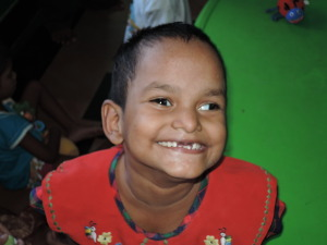 Smiling little boy from Sri Arunodayam