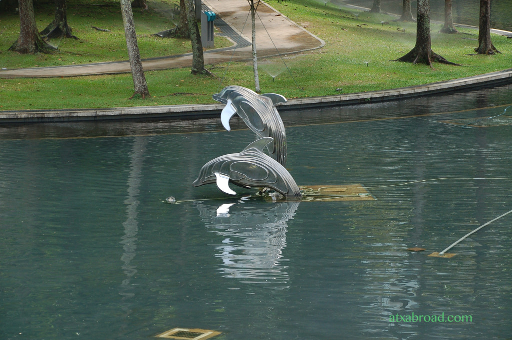 Dolphin Sculpture Near Petronas Towers