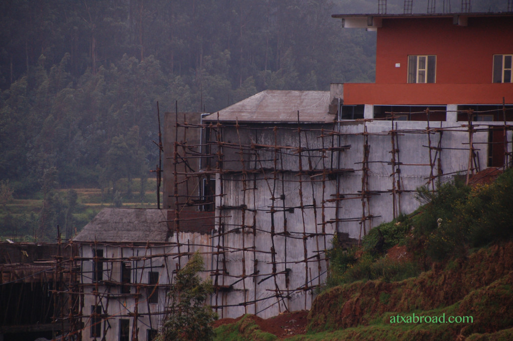 Example of Indian Scaffolding, Adjacent to Tea Factory